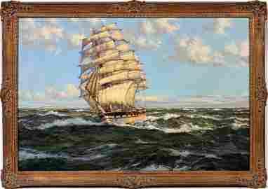 """MONTAGUE DAWSON, OIL, """"CLIPPER SHIP HARBINGER"""""""