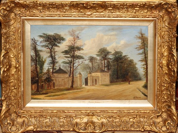 H. MASSER, OIL ON CANVAS, THE MANOR GATES