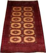 PAKISTANI BOKHARA PRAYER RUG, 3' X 5'