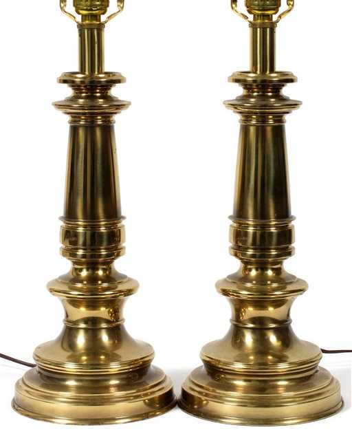 Stiffel brass table lamps pair h 24 aloadofball Images