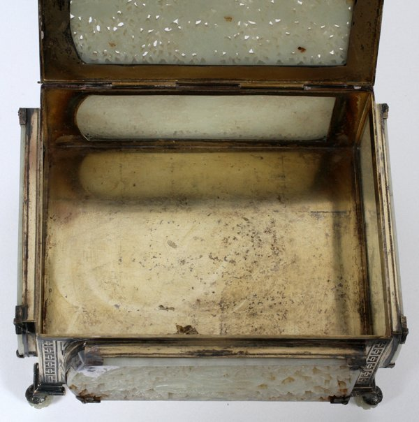EDWARD I. FARMER STERLING, CHINESE JADE BOX - 2