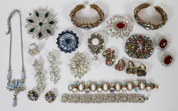 COSTUME JEWELRY BY DIOR HOBE OTHERS, OVER 100