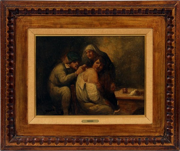 GIACOMO VERNER, OIL ON CANVAS, THE DOCTOR