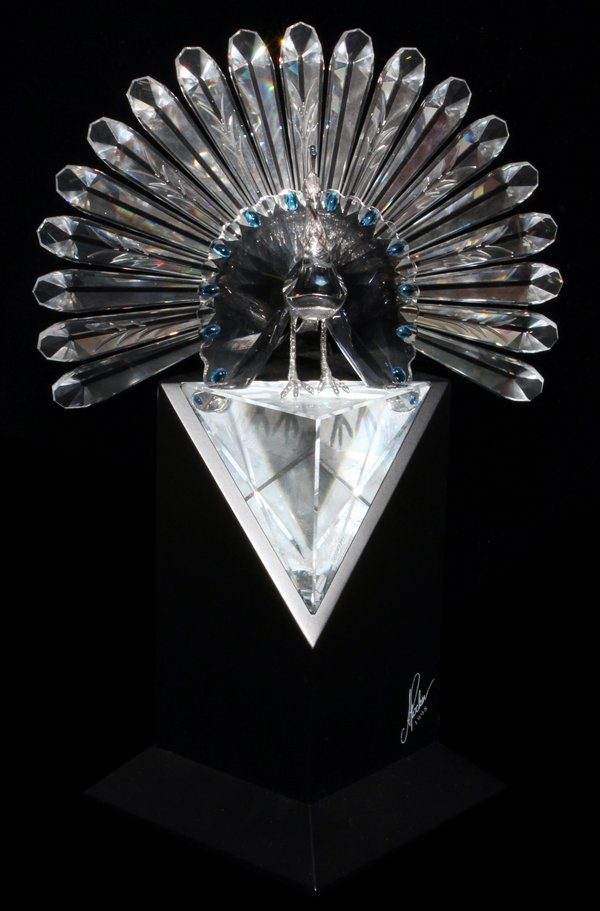SWAROVSKI, 'LIMITED EDITION', CRYSTAL PEACOCK