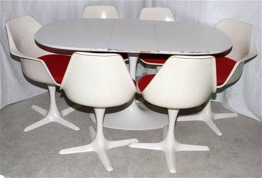 Burke Inc Dallas Texas Tulip Table Chairs