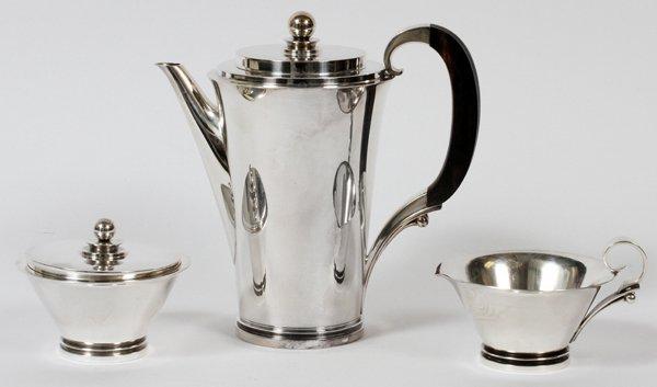 GEORG JENSEN 'PYRAMID' STERLING COFFEE SET, 3
