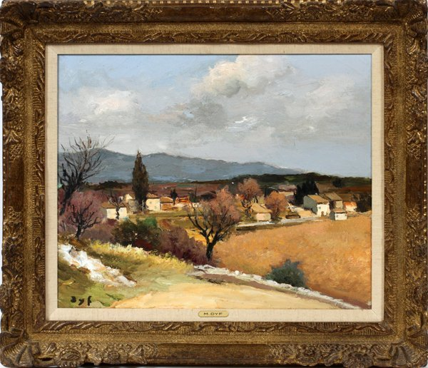 "MARCEL DYF OIL ON CANVAS, 18"" X 22"""