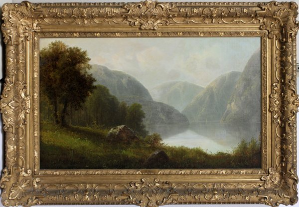 A. GEIGER, OIL ON CANVAS, AUSTRIAN LANDSCAPE
