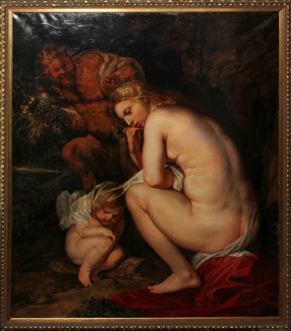 AFTER RUBENS, OIL ON CANVAS BY LODE SEBREGTS
