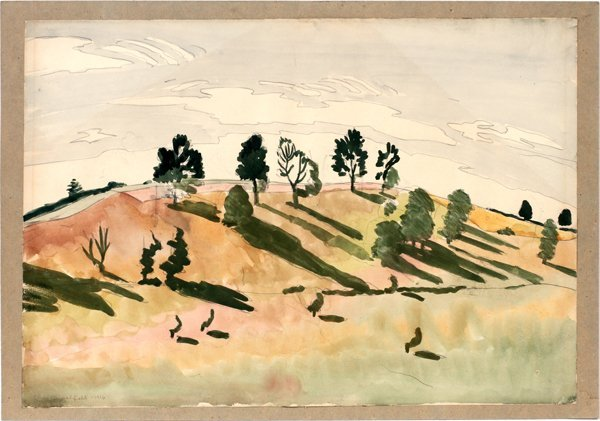 CHARLES EPHRAIM BURCHFIELD WATERCOLOR & PENCIL