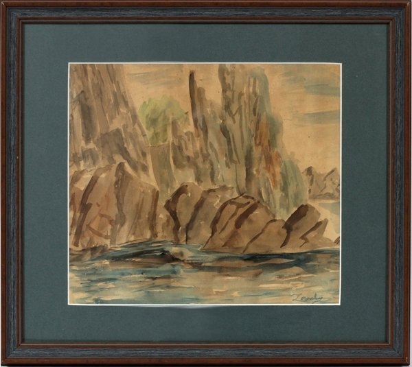 "WILLIAM ZORACH WATERCOLOR ON PAPER, ""YOSEMITE"""