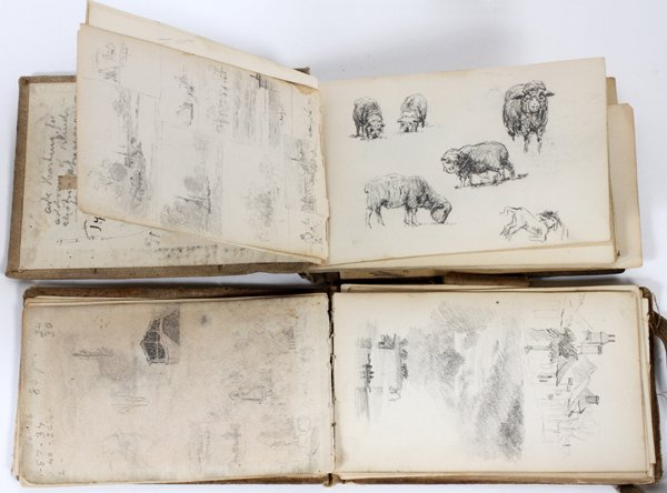 JOHN ENNEKING, USA 1841-16, SKETCH BOOKS IMAGES