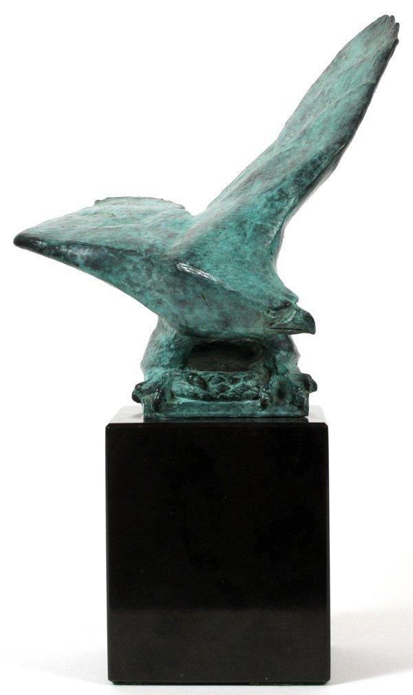 "MARSHALL FREDERICKS BRONZE AMERICAN EAGLE, 7"" H"