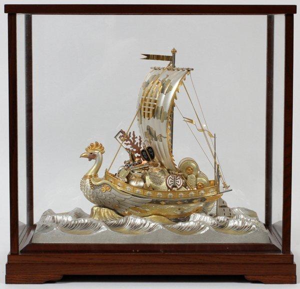 JAPANESE TAKARA BUNE TREASURE SHIP, STERLING