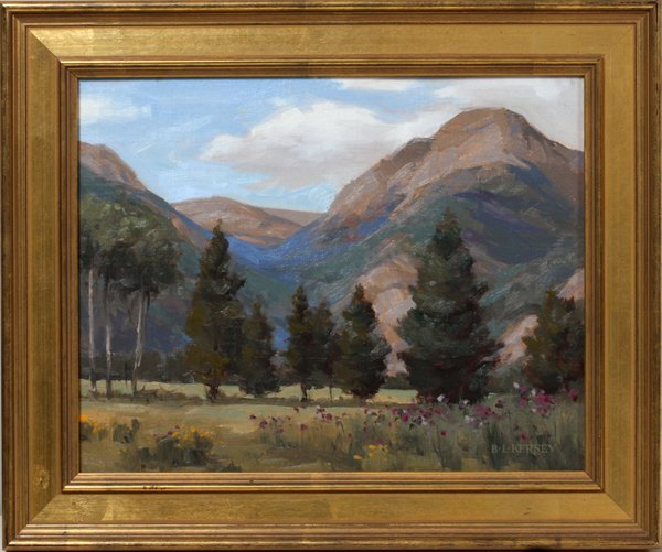 """LAURIE KERSEY OIL ON PANEL """"ENDO VALLEY VIEW"""""""