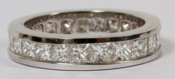 14KT WHITE GOLD & 3.47CT DIAMOND ETERNITY RING