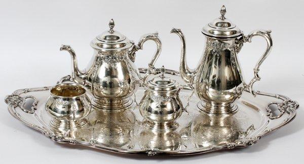 INTERNATIONAL PRELUDE STERLING TEA & COFFEE SET