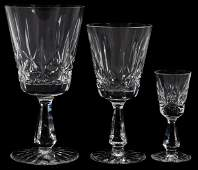 WATERFORD ROSSLARE CRYSTAL STEMWARE 24 PIECES