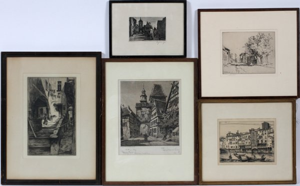 AMERICAN/EUROPEAN ETCHINGS, VARIOUS ARTISTS, 5