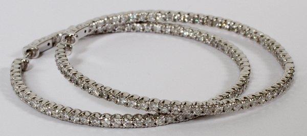 5.10CT FULL ROUND CUT DIAMOND HOOP EARRINGS