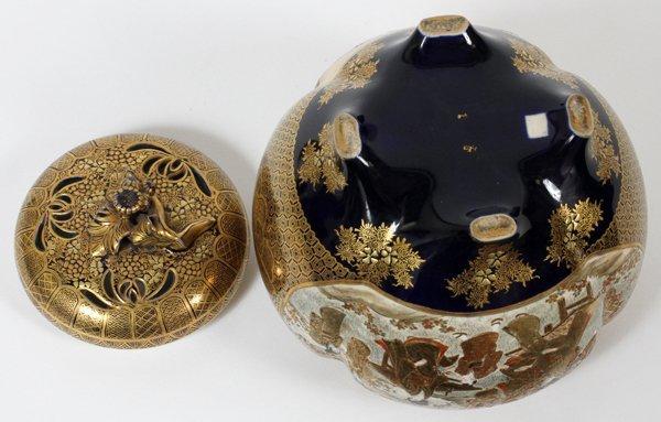 JAPANESE SATSUMA EARTHENWARE JAR, SIGNED, MEIJI - 6