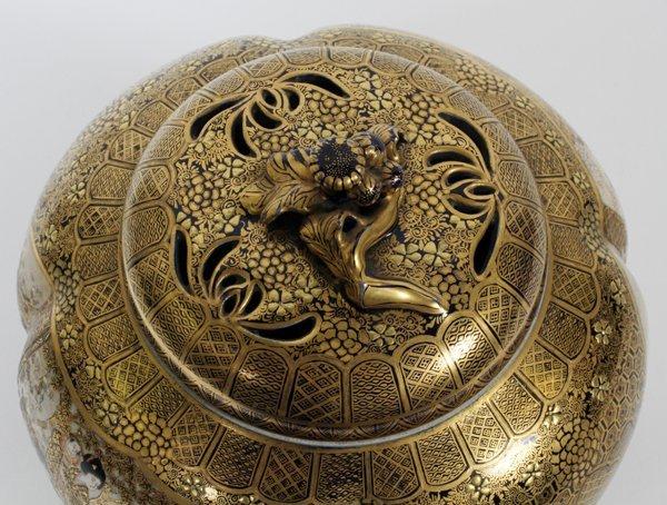 JAPANESE SATSUMA EARTHENWARE JAR, SIGNED, MEIJI - 7