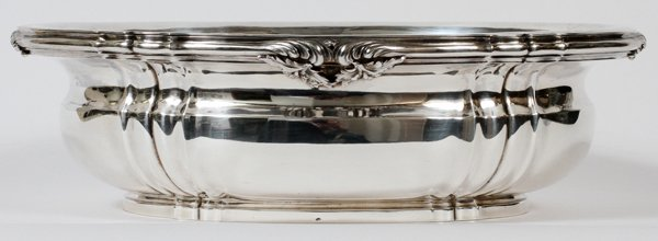 CARTIER, FRENCH .950 SILVER CENTERPIECE BOWL
