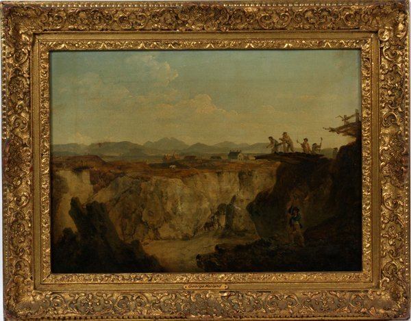 "GEORGE MORLAND OIL ON CANVAS, 12 3/4"" X 17 3/4"""