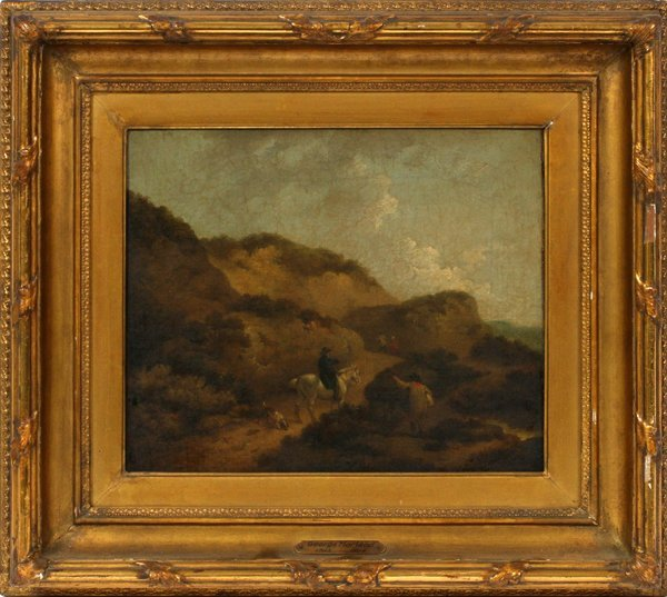 "GEORGE MORLAND, OIL ON CANVAS, 9 3/4"" X 11 3/4"""