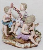 MEISSEN PORCELAIN, CHILDREN GATHERING FLOWERS