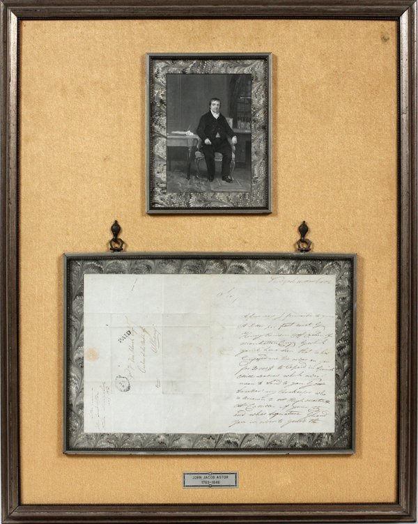 JOHN JACOB ASTOR, SIGNED DOCUMENT, MARCH 1802