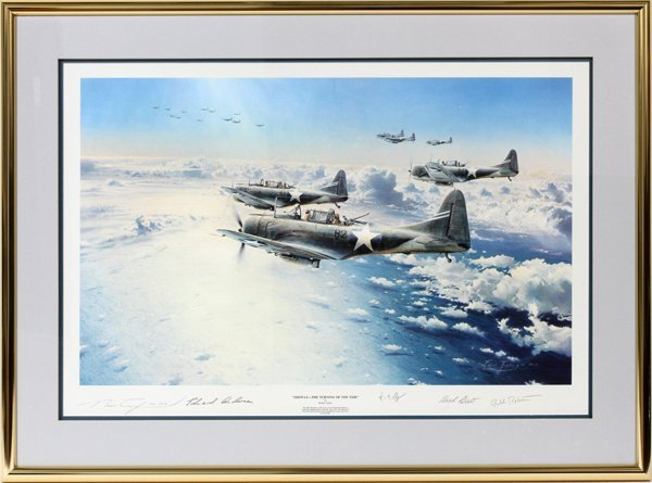 "ROBERT TAYLOR, COLOR LITHO ""MIDWAY-THE TURNING"""