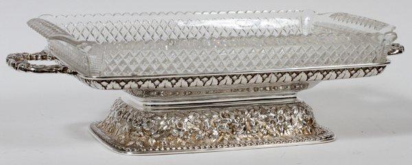DOMINICK & HAFF STERLING CUT GLASS DISH, 1887