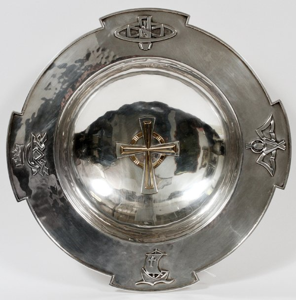 AMERICAN HAND-CRAFT STERLING ECCLESIASTICAL BOWL
