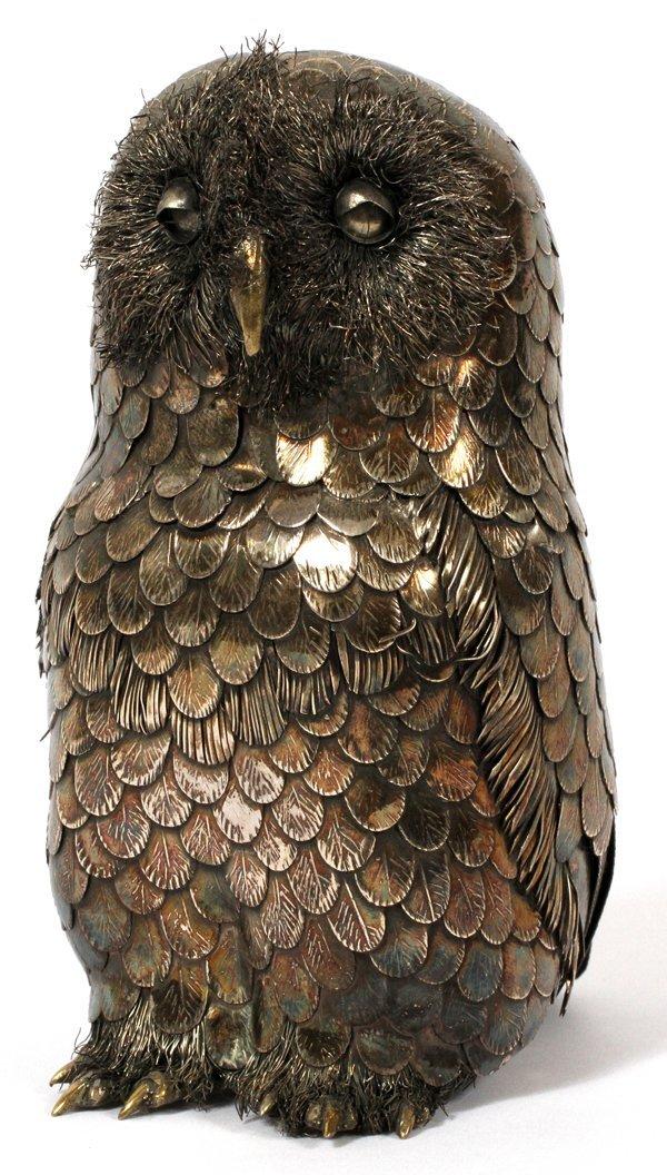 "GIANMARIA BUCCELLATI STERLING OWL, H 4 1/4"""