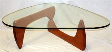 ISAMU NOGUCHIHERMAN MILLER WALNUT  GLASS TABLE