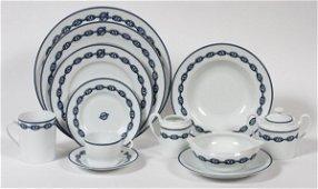 HERMES 'CHAINE D'ANCRE-BLUE' PORCELAIN DINNER