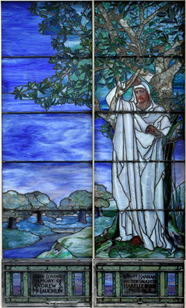 TIFFANY STUDIOS WINDOWS C1911 'CHRIST IN SORROW'