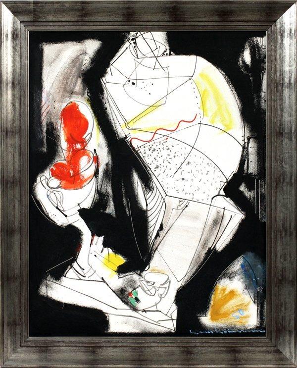 "HANS HOFMANN OIL ON CANVAS, 1950, ""FRUIT BOWL"""