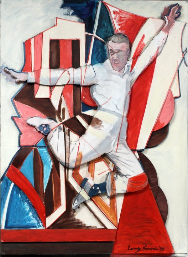 LARRY RIVERS MIXED MEDIA FRED ASTAIRE IN THE AIR