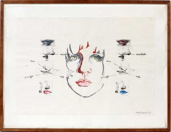 LARRY RIVERS, LITHOGRAPH,'DIANE RAISED IV'
