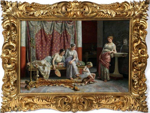 GUGLIELMO ZOCCHI ITALIAN OIL, WOMEN AND CHILD
