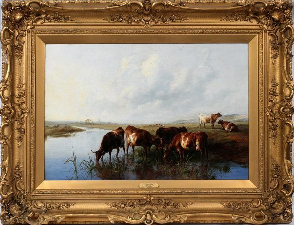 """THOMAS SIDNEY COOPER OIL, """"CATTLE GRAZING"""""""