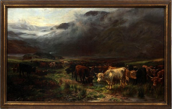 HENRY GARLAND, OIL, HIGHLAND CATTLE, 1854-1890