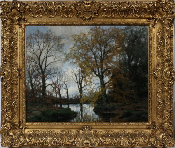 ARNOLD MARC GORTER OIL ON CANVAS, FOREST RIVER