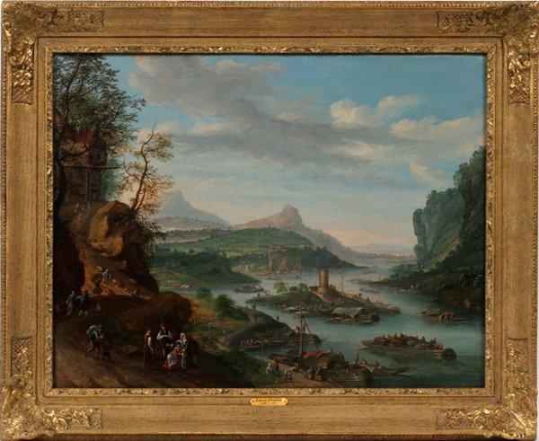 """LOUIS CHALON OIL """"CONTINENTAL RIVER SCENE"""" 1732"""
