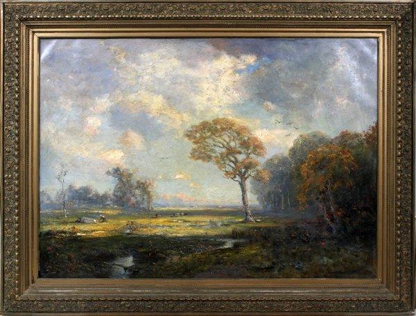 DOUGLAS ARTHUR TEED OIL, 1917, AUTUMN LANDSCAPE