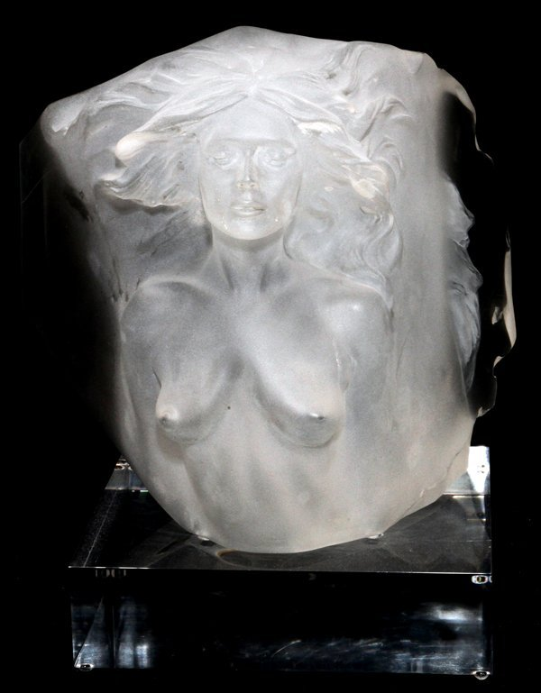 HART CLEAR ACRYLIC RESIN SCULPTURE for Clear Resin Sculpture  156eri