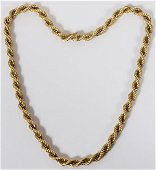 """18 KT GOLD NECKLACE WITH WHITE GOLD, L 27"""""""