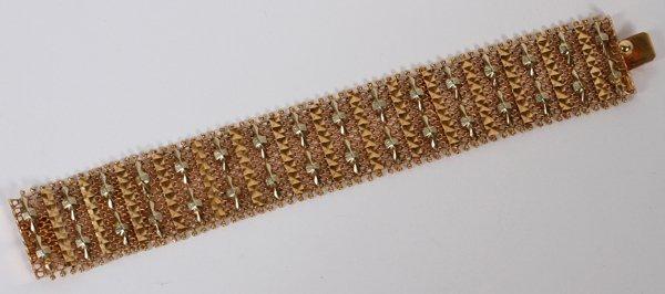 18 KT. TRI-GOLD MESH BRACELET